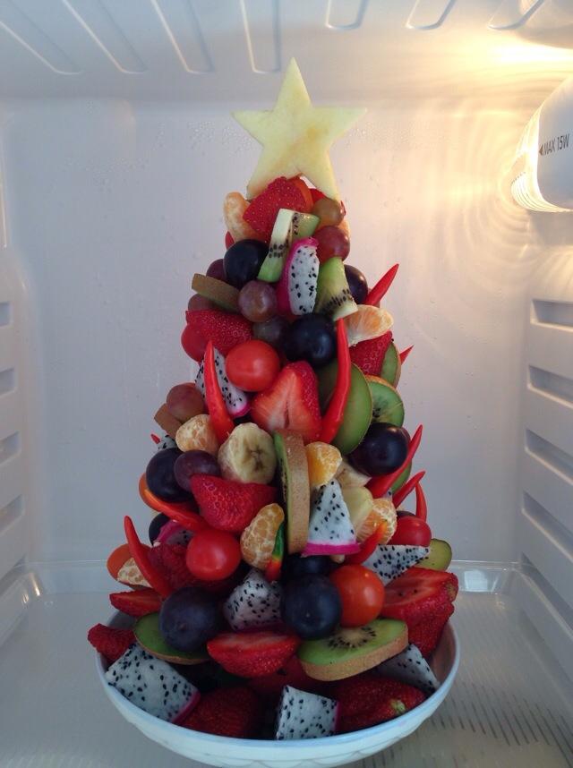水果圣诞树的做法图解1