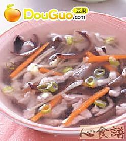 木须肉丝汤的做法