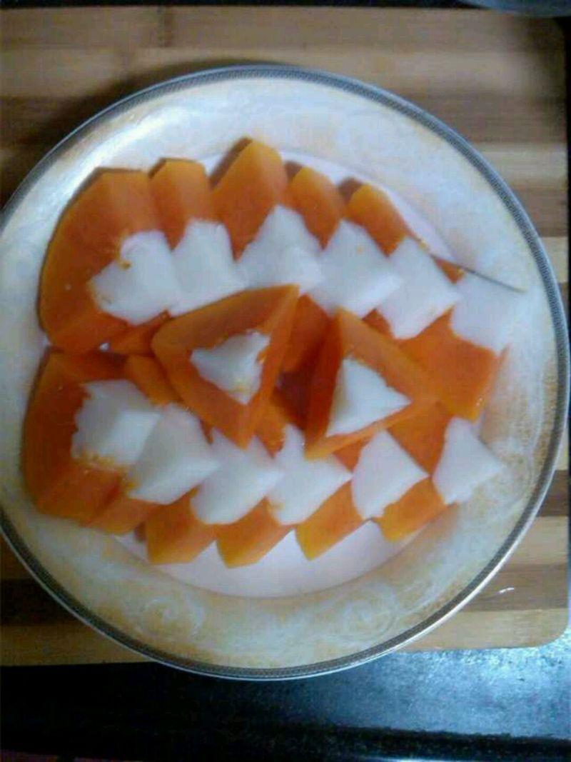 木瓜椰奶冻的做法_【图解】木瓜椰奶冻怎么做如何做