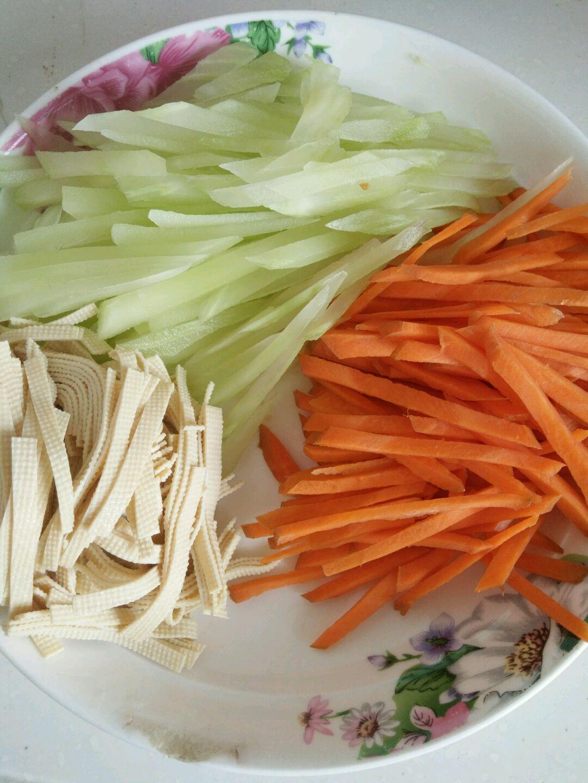 杂蔬凉面的做法图解1