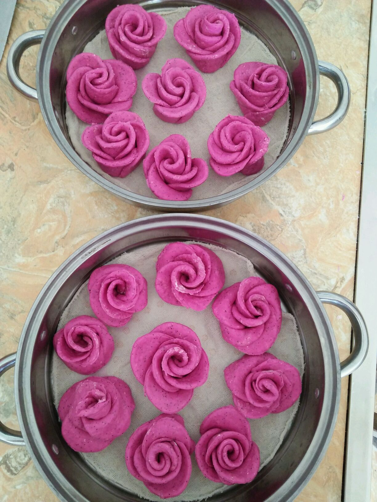 玫瑰花馒头的做法步骤