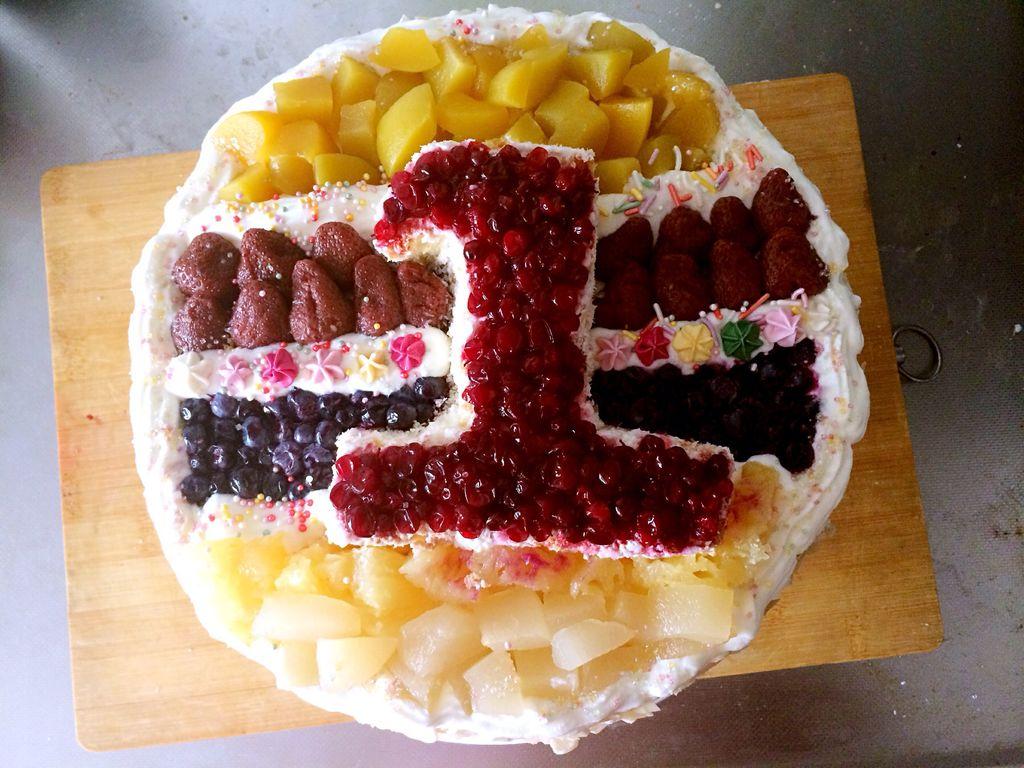 一周岁生日蛋糕图片