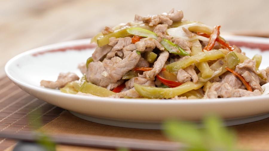 用肉丝看这个手机扫一扫边看边做更方便菜谱炒鲍鱼是再图片榨菜家常盅小米菜品图片