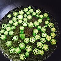 秋葵炒鸡蛋的做法图解2