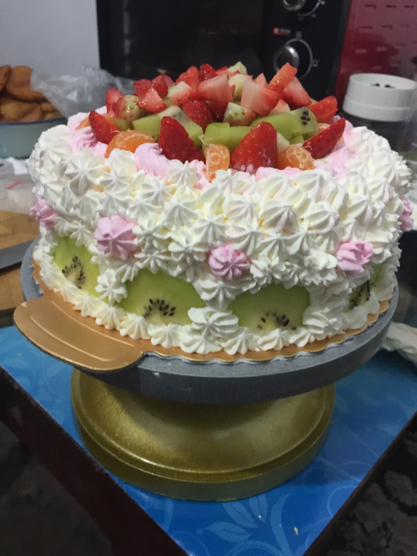 水果生日蛋糕的做法图解2