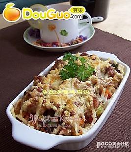 杂蔬咖喱鸡焗饭的做法