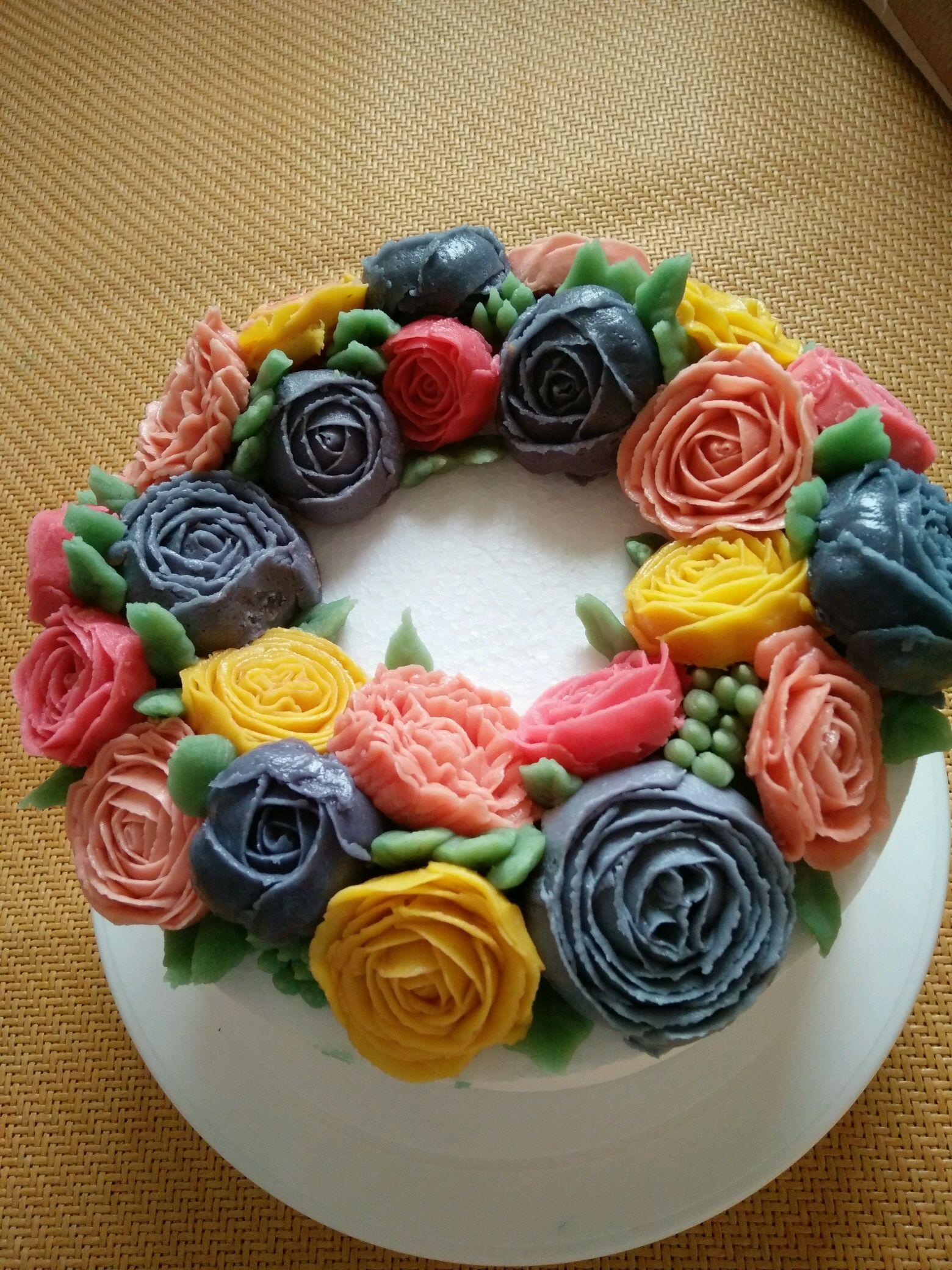 蛋糕裱花基础 花卉篇 附光盘