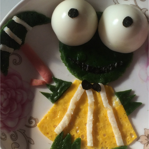 儿童创意餐——下雨天青蛙来为你打伞