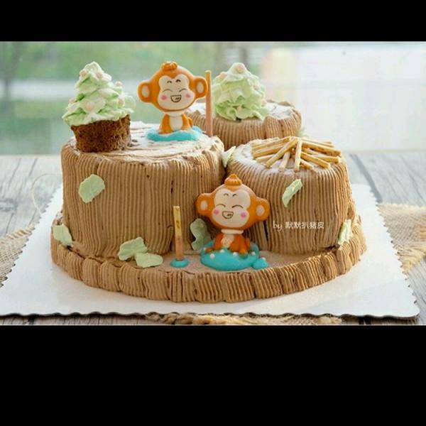 萌萌的小猴子蛋糕