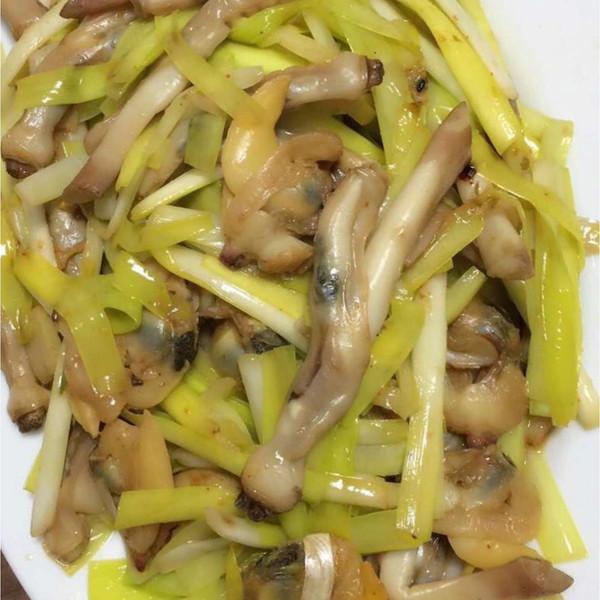 韭黄炒海蛏