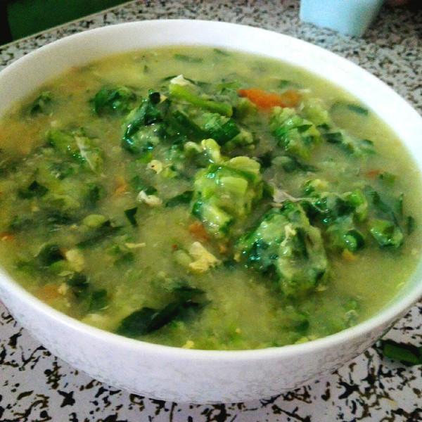 芳草碧连天哪的韭菜疙瘩汤做法的学习成果照