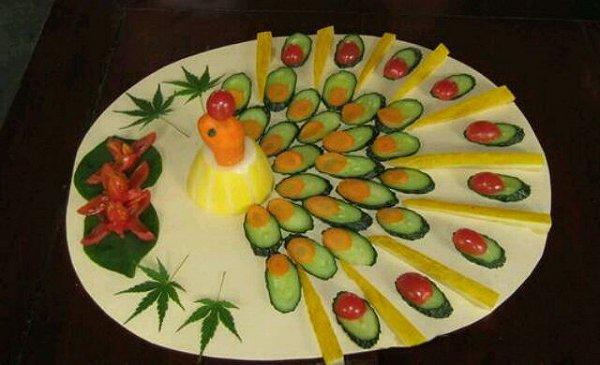 孔雀开屏《水果拼盘》