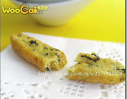 咸香海苔肉松饼干的做法