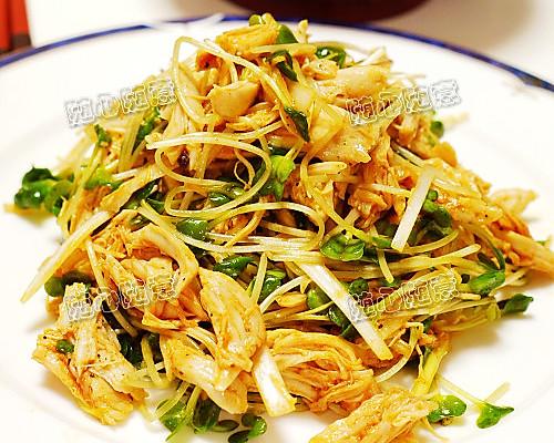 韩国风—鸡丝沙律的做法