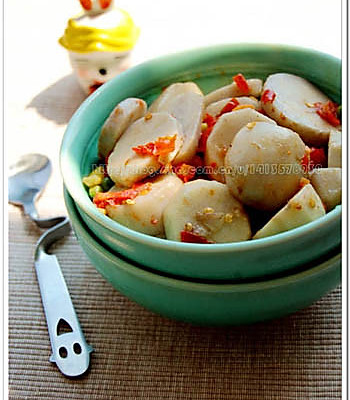 剁椒煮芋头的做法