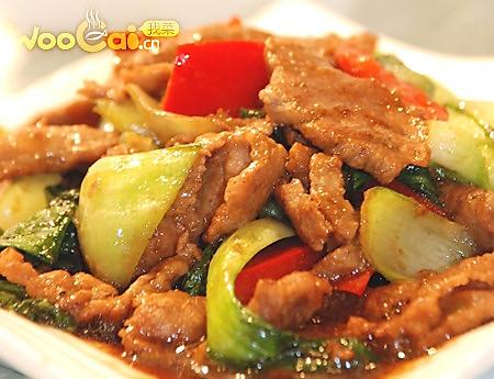家常菜——牛肉炒油菜的做法