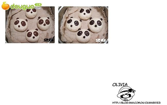 钩针图解熊猫耳朵