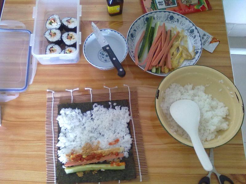 简易寿司的做法图解3