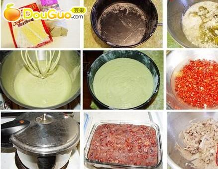 绿茶蜜豆蛋糕的做法步骤
