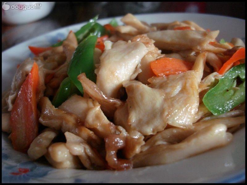 肉炒菜谱平菇小吃店价目表图片